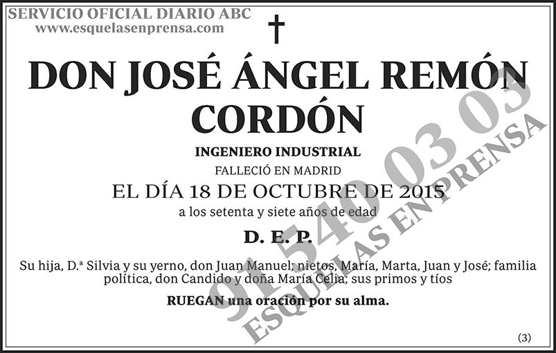 José Ángel Remón Cordón